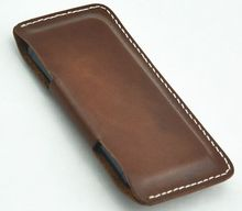 leather case for mobile phones,hand stitched genuin leather mobile phone case for iphone 5