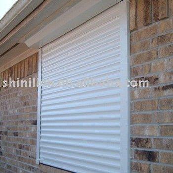 Aluminum roller hurricane shutter view hurricane shutter shinilion product details from hunan for Metal window shutters interior