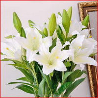 Customized professional artificial white ginger lily