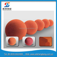concrete pump spare parts / hard & soft concrete pump pipe & condensor tube rubber cleaning sponge ball