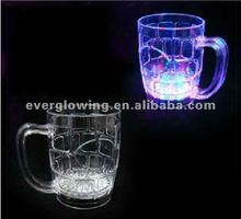 500ml hot sale LED Light-Up Flashing Rocks Glass Drinkware Lamp MUG drink Beer Cup free shipping