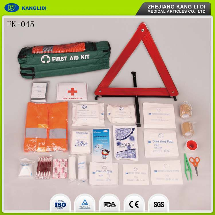 KLIDI China Factory Wholesaler Supply Cheap Price Car Driving Emergency First Aid Kit