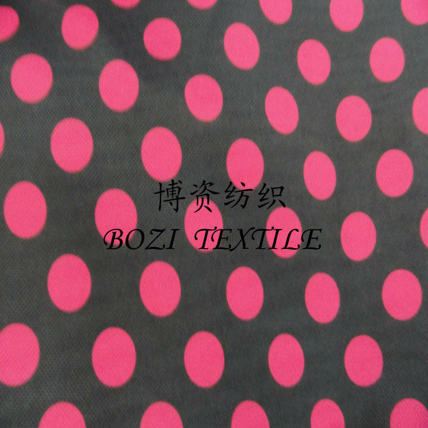 printed polka dot silk fabric