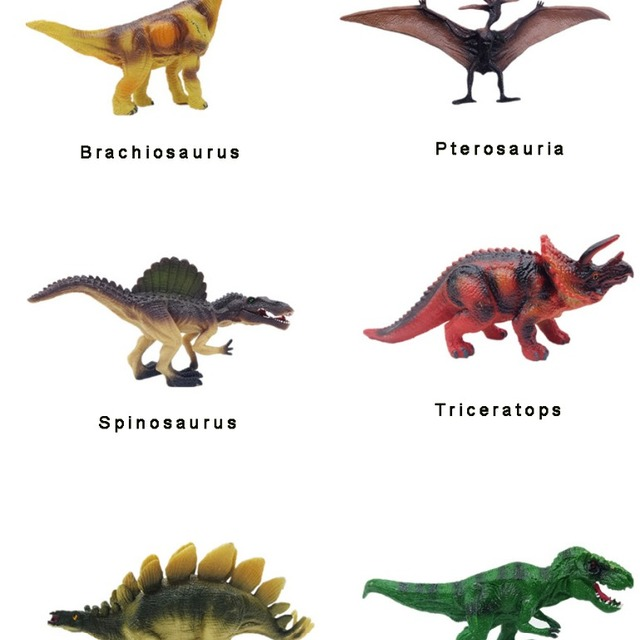 Best selling products 2018 pvc dinosaur simulation model six kinds set of toys for children