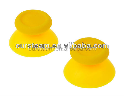 solid yellow new thumbstick for PS4 controller replacement parts for PS4 buttons