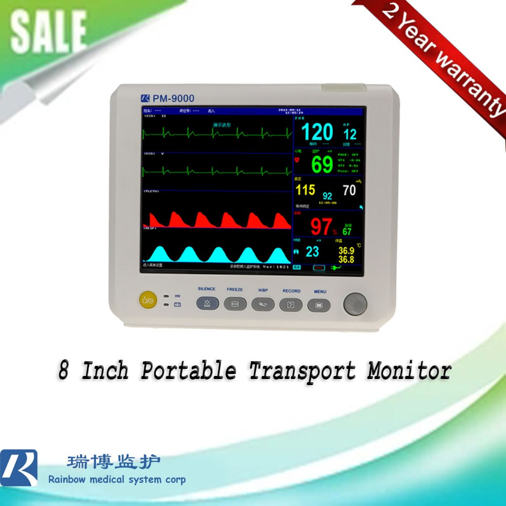 High Quality China Manufacturer Sale 12.1Inch Color Tft Screen Multiparameter Ambulance Medical Patient Transport Monitor