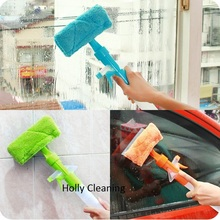 Multifunction Window Cleaning Brush With Rubber Strip & MicroFiber Cloth