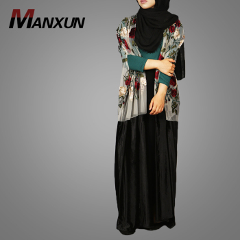 Custom Print Muslim Long Kimono Dress Hot Selling Woman Muslim Long Sleeve Maxi Dress Long Dress Wholesale Kimono