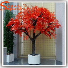 Outdoor ornamental artificial autumn tree bonsai tree artificial with branches and leaves