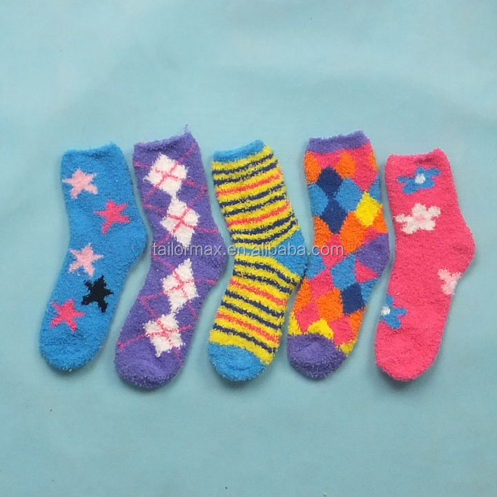 colorful Ladies Socks packed dress stock socks