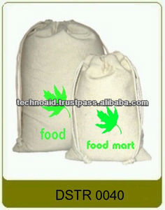 100% cotton drawstring bags