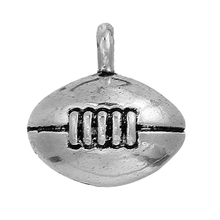Custom Zinc Based Alloy NFL Football Antique Silver Charms