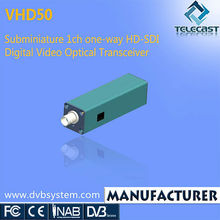 High-performance Out Door Digital MMDS TV Transmitter 1ch HD-SDI Video Mini Optical Transceiver