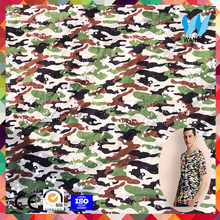 2017News product 90% cotton 10% lycra fabric green camouflage cotton 100 cotton fabric for t-shirt