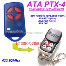 For ATA PTX-4 Pink Gate / Garage Door Remote Control / ATA Transmitter 433.92MHZ