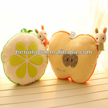 2014 OEM girl gift fruit rabbit &little yellow man dolls plush toys