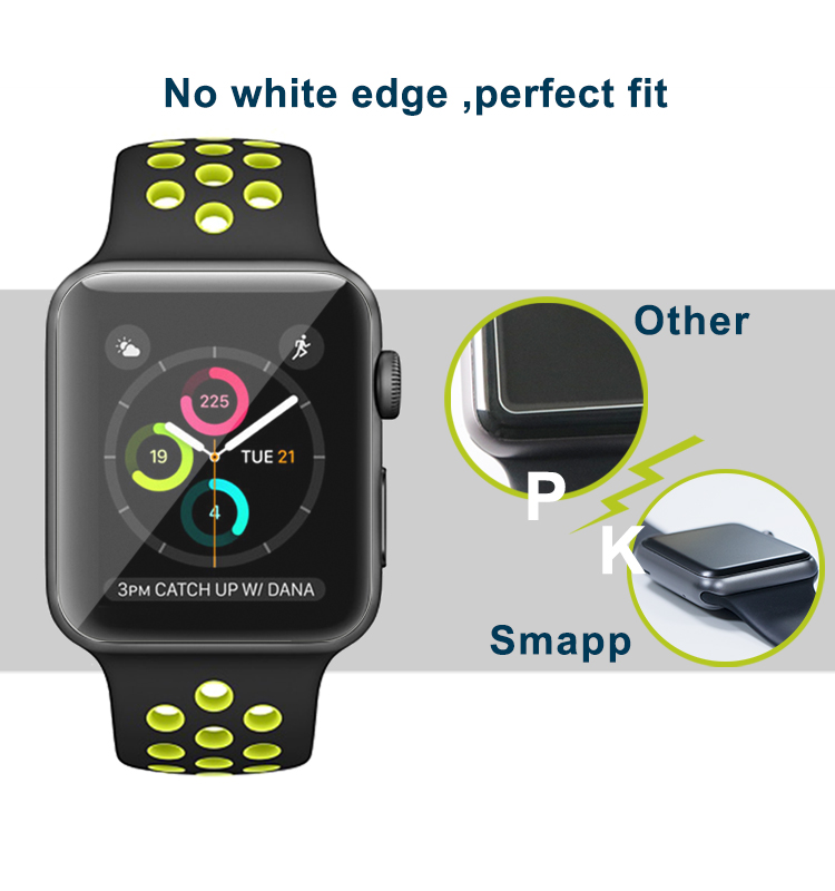 New product TPU full cover watch screen protector for apple watch 38mm 40mm 42mm 44mm