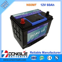 Factory Best Price 12V 60Ah Japan Quality Auto Battery MF65D26R