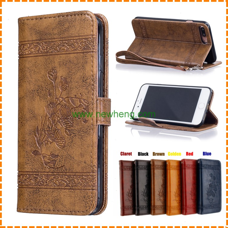 Personalized mobile accessory Embossed leather phone case, leather case for iPhone 6/ 6 plus/ 7/ 7 plus