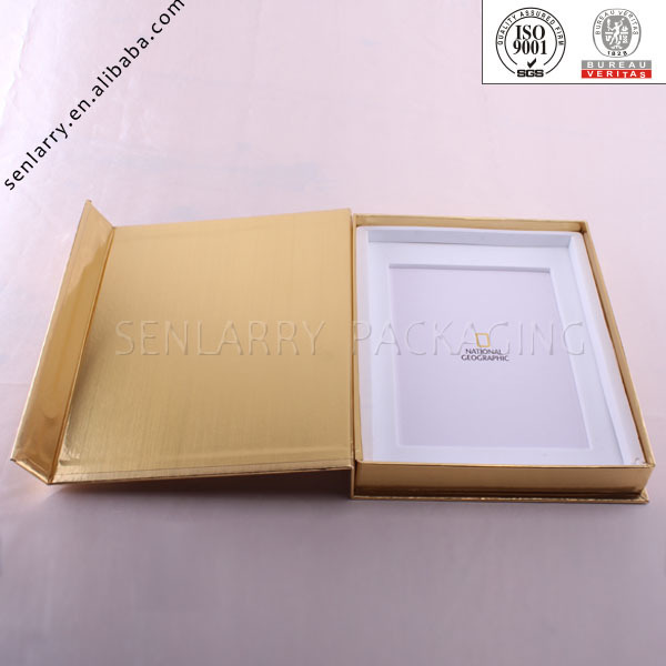 Clear window custom frame packaging box with paper tray