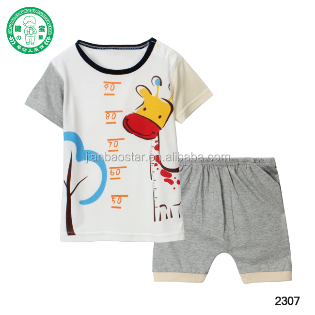 70% bamboo baby short suit/child carton short sleeve suit set/infant baby clothes