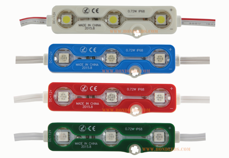 SMD 5050 Taiwan Epistar LED module with injection molding good price samsung 5630 led module red tupe