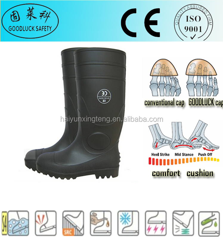 Reflective Bar Natural Rubber Gumboots PVC Rubber Rain Boots