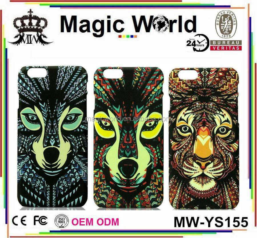 designer animal 3d tattoo phone case