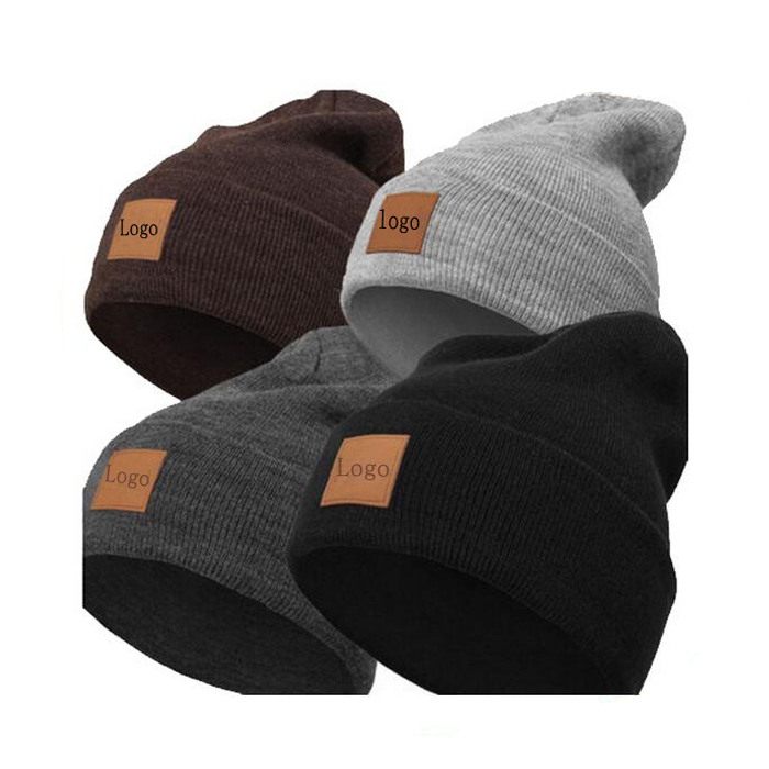 New Winter Beanies Solid Color Hat Unisex Plain Warm Soft Beanie Skull Knit Cap Hats Knitted Winter Hat For Men Women