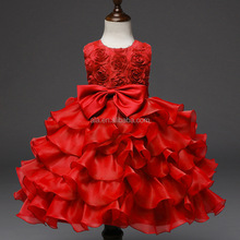 Sleeveless Dancing wedding Baby Easter Dress 70-150cm girls laced rose flowers 8 colors solid nice formal grils dress
