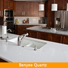 Newstar white marble color quartz countertop edging
