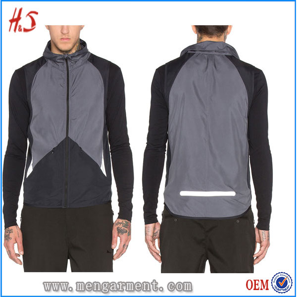 Shopping clothes men fashion sportswear safety custom vest with zip pockets