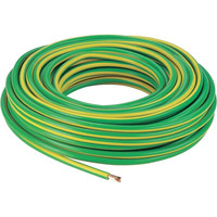 green and yellow UL1015 14AWG PVC insulated tinned copper electrical wire