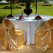 Cheap satin chair covers for sale Odm