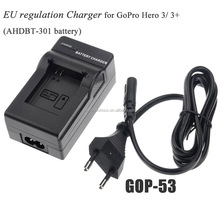 Go Pro Accessories Video/Digital Camera Travel Charger For Gopro Hero 3/3+ /AHDBT-201/AHDBT-301 Battery chargering