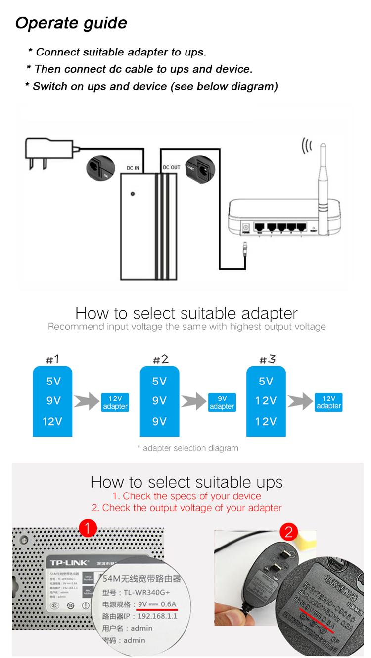Circuito Ups 12v : Mini online ups system dc v v v a output ups li ion