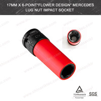 "17mmx6-Point""Flower Design""Mercedes Lug Nut Socket(VT01907)"