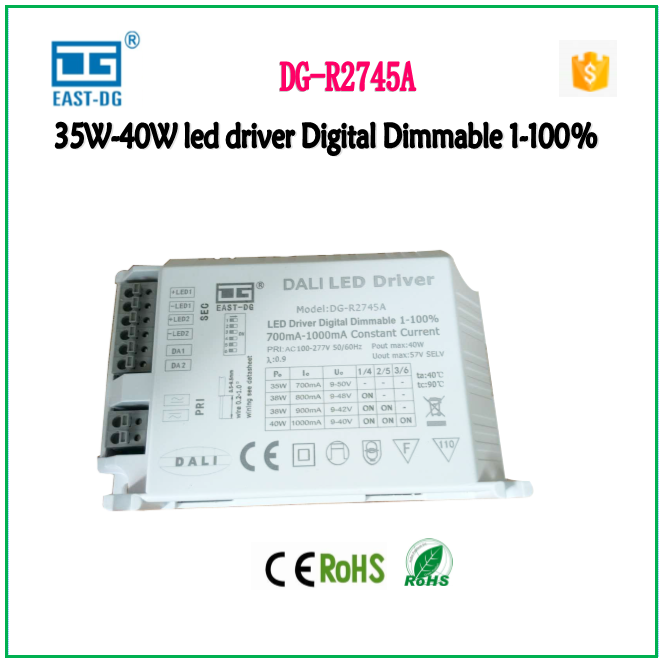30w 32w 38w 40W dali dimming driver 700ma-1000ma dc9-50v remote control 40w dali led dimmable driver for led lights driver