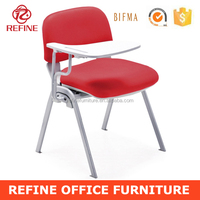 hot sales stackable fabric university lecture chairs with writing tablet RF-T001C