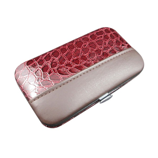Pink color croc patterns manicure set gift wholesale
