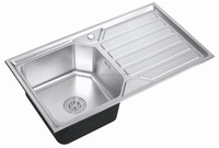 new model stainless steel kitchen sinks with drain boad