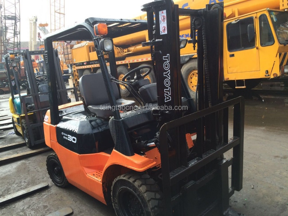 3ton used forklift FD30, secondhand toyota 3 ton forklift FD30