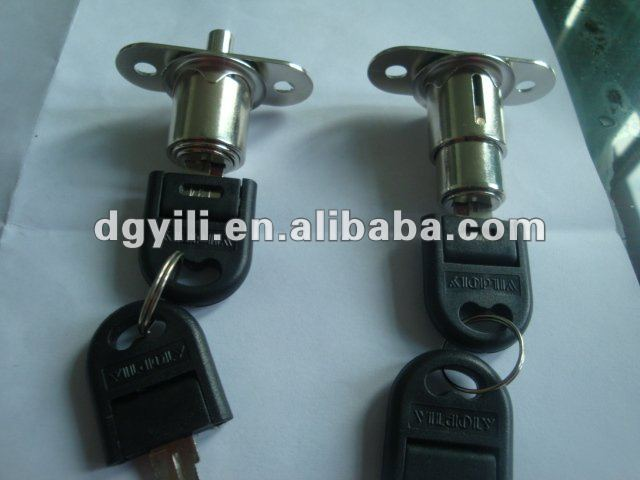cylinder push lock with key push drawer locks