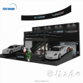 Detian offer Double deck exhibition stand fair booth design trade show display booth