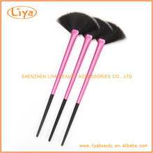 Beauty cosmetics facial fan brush wholesale make up kits