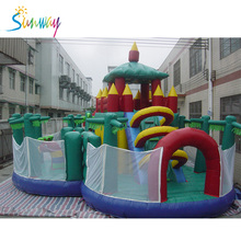2O17 Hot Sale Inflatable Bouncy House Inflatable Happy Sheep Slide Inflatable Obstacle Castle For Fun