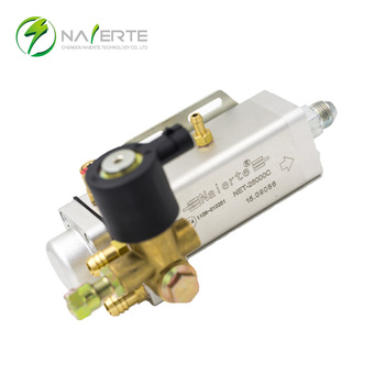 Engine fuel system CNG/LNG pressure reducer with 12V/24V solenoid valve