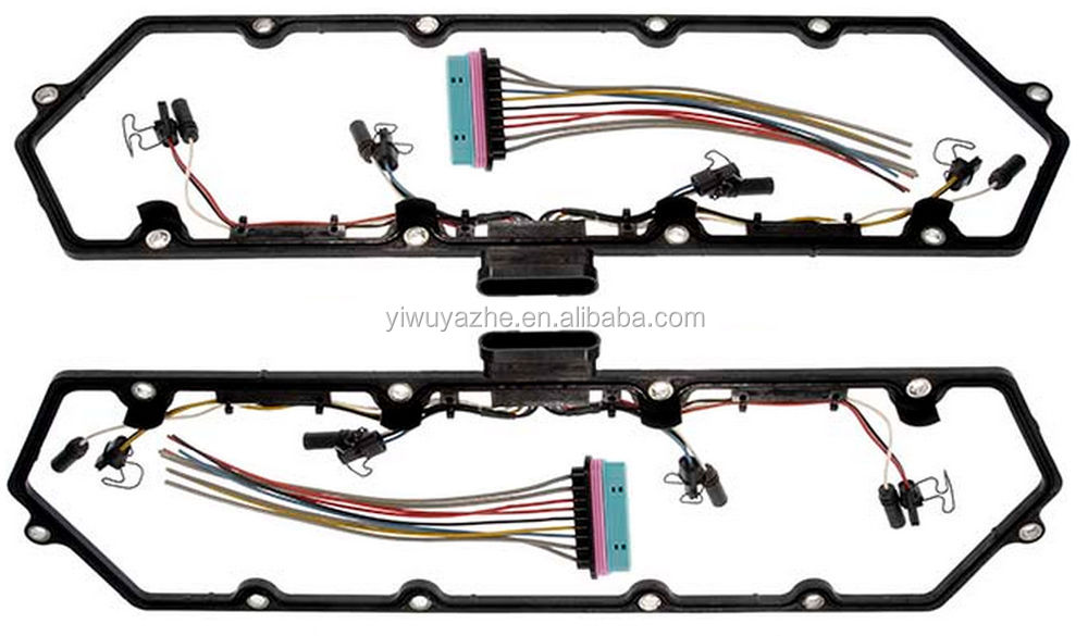 98-03 Powerstroke 7.3L Valve Cover Gasket w/Fuel Injector Glow Plug Harness