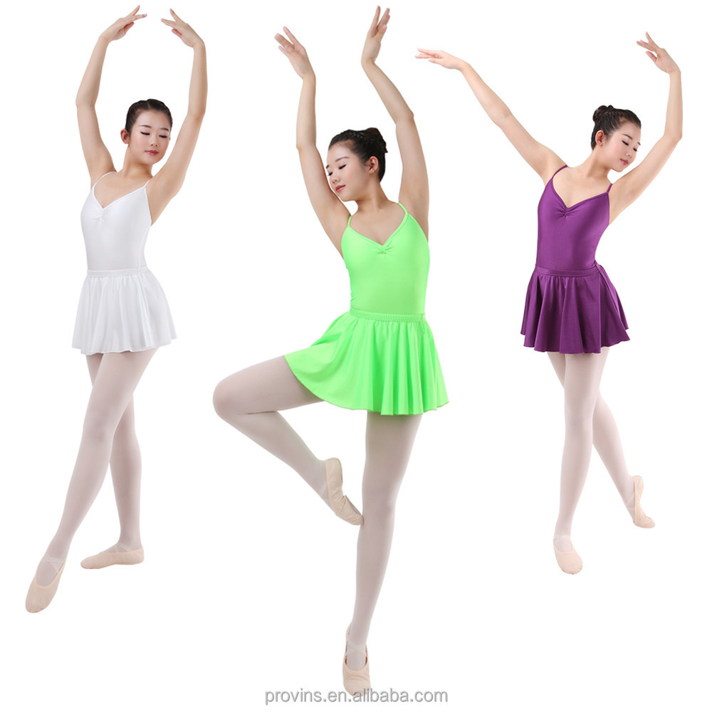 Camisole Leotard with Attached Skirt, Practice Ballet Dance Wear