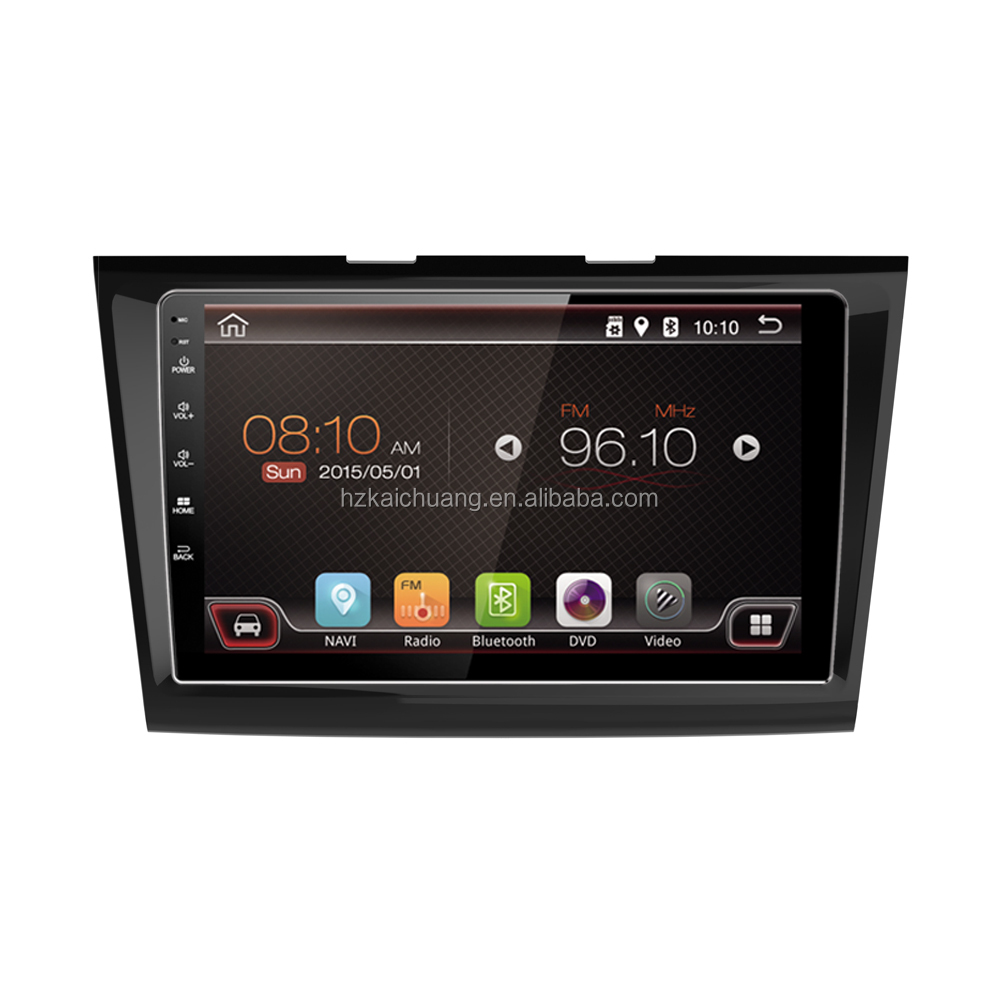 "2016 9"" android tablet double din car dvd player with support CVBS output TFT mirror video for GSP"
